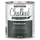 Rust-Oleum Chalked Ultra-Matte Paint - Latex - 887 ml - Charcoal