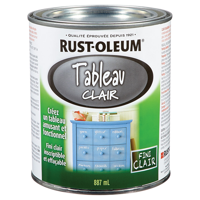 Peinture à tableau, Rust-Oleum, latex, 887 ml, clair