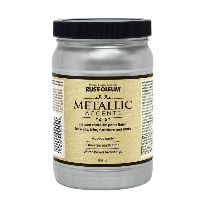 Water-Based Metallic Paint - 946 mL - Silver