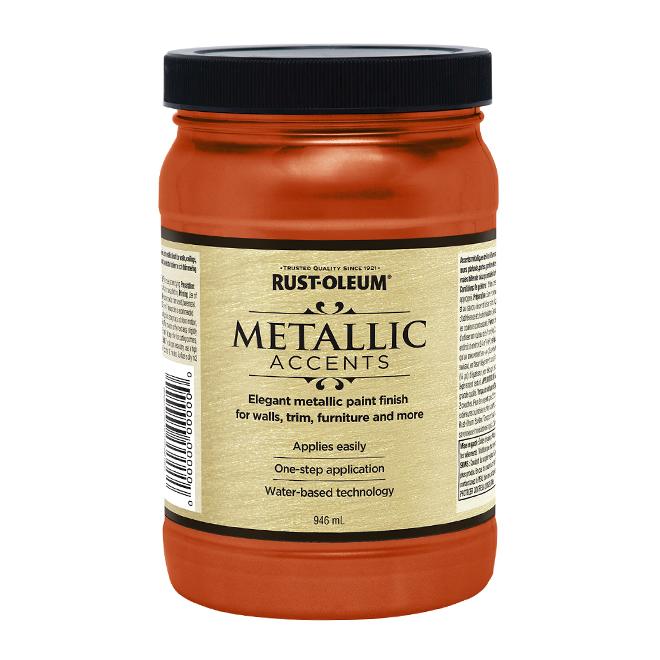 Water-Based Metallic Paint - 946 mL - Copper