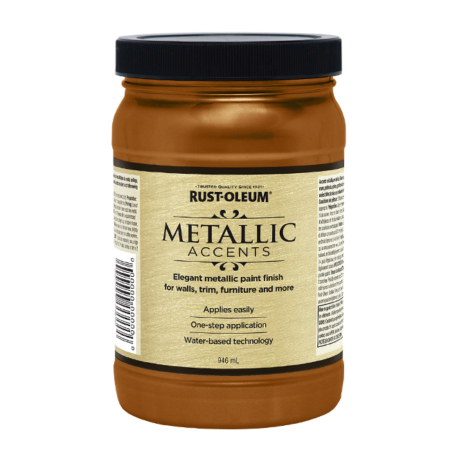 Water-Based Metallic Paint - 946 mL - Bronze Medal