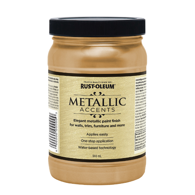 Water-Based Metallic Paint - 946 mL - Champagne
