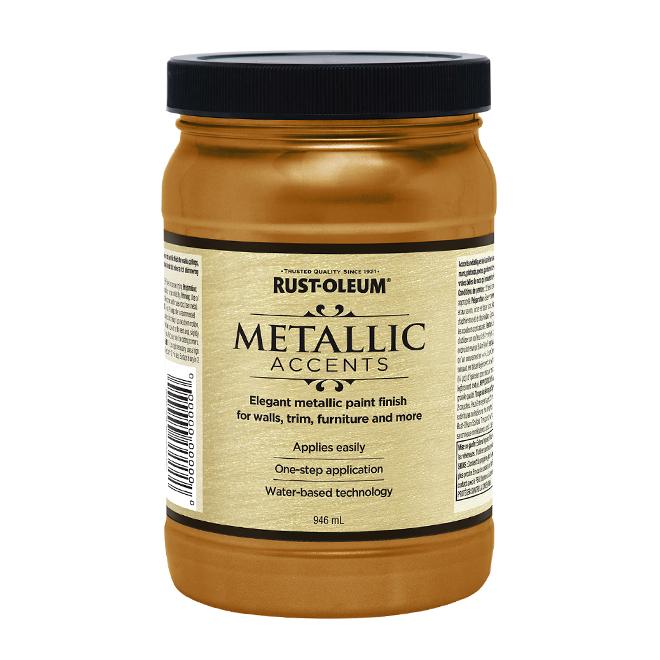 Water-Based Metallic Paint - 946 mL - Gold Mine