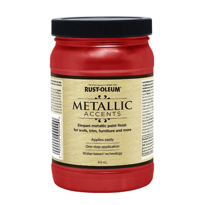 Water-Based Metallic Paint - 946 mL - Red Scarlet