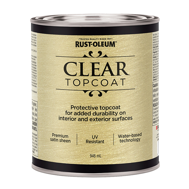 Water-Based Metallic Paint - 946 mL - Clear Satin