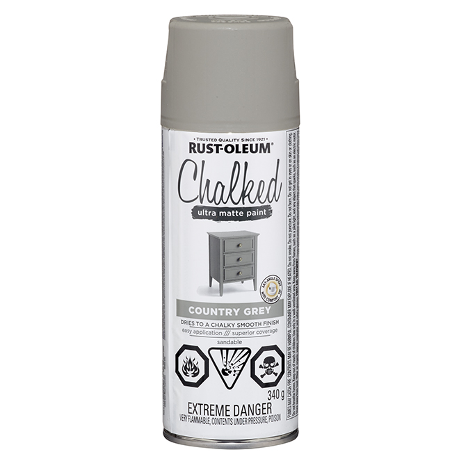 Aerosol Chalked Paint - Country Grey - 340 g