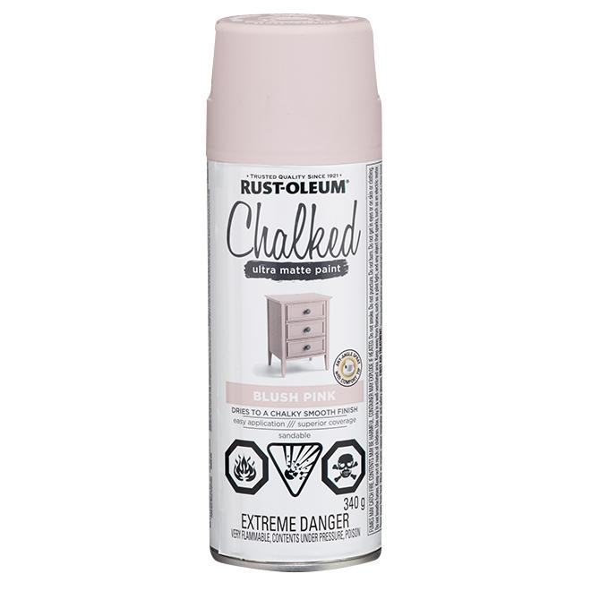 Rust-Oleum Aerosol Chalked Paint - 340 g - Ultra Matte - Blush Pink