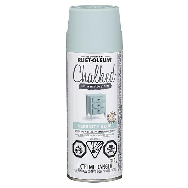 Rust-Oleum Aerosol Chalked Paint - 340 g - Ultra Matte - Serenity Blue