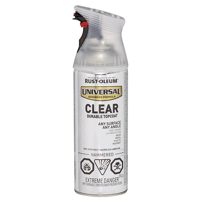 Clear Durable Topcoat - 312 g - Hammered