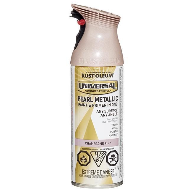 "Rust-Oleum - Int/Ext Paint - ''Metallic Pearl"" - Aerosol - 312 g - Champagne"