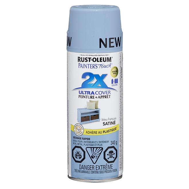 Peinture en aérosol « 2X Ultra Cover », 340 g, bleu français