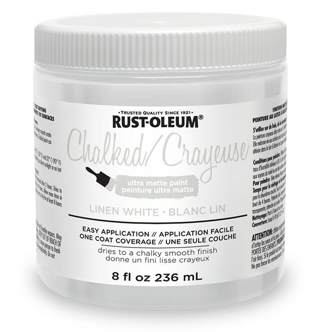 Rust-Oleum Ultra Matte Chalked Paint - 236 mL - Linen White