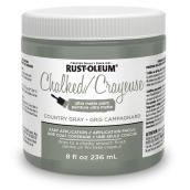 Rust-Oleum Ultra Matte Chalked Paint - 236 mL - Country Grey