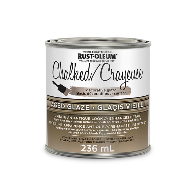Chalked Semi-Transparent Glaze - 236 mL - Aged Glaze