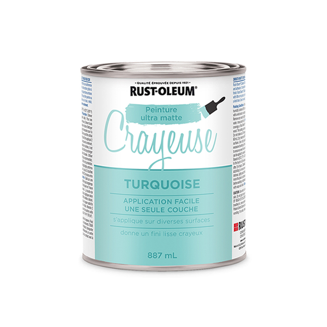 Peinture crayeuse Rust-Oleum, 887 ml, ultra mate, turquoise
