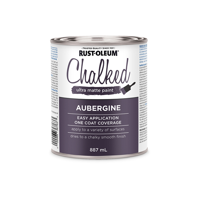 Rust-Oleum Chalked Ultra Matte Paint - 887 ml - Aubergine