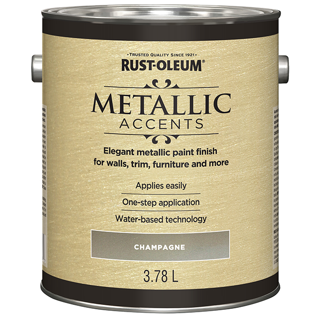 Metallic Accents Interior Paint - 946 mL - Champagne