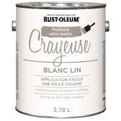 Peinture crayeuse Rust-Oleum, 3,78 l, ultra mate, blanc lin