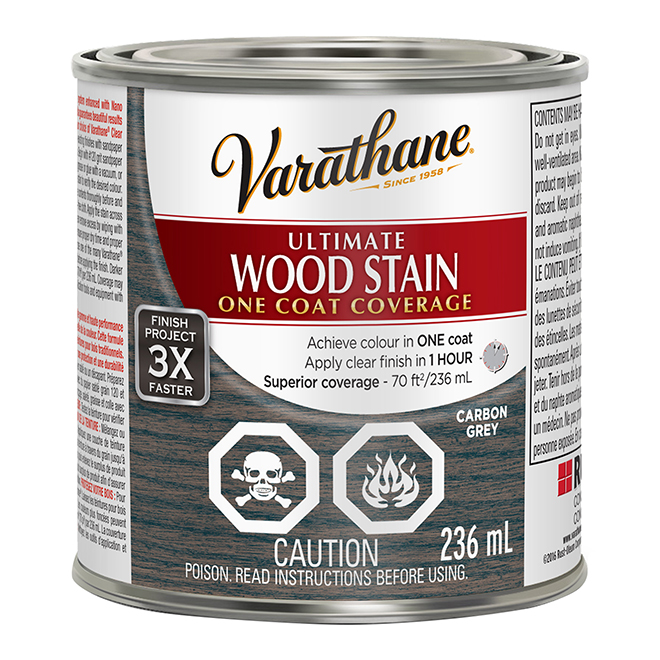 Ultimate Wood Stain - 236 mL - Carbon Grey