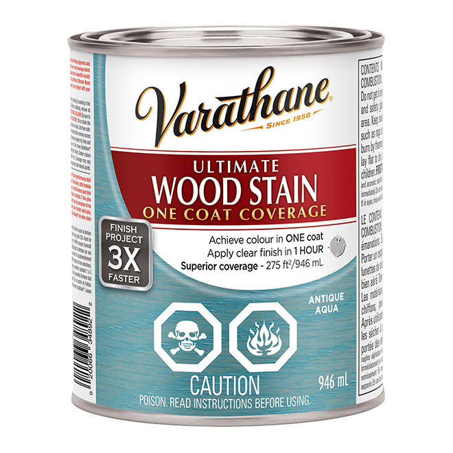 Ultimate Wood Stain - 946 mL - Antique Aqua