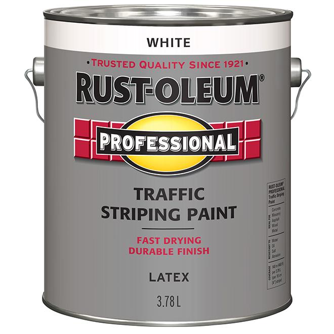 Rust-Oleum Traffic Striping Paint - Latex - 3.78 L - White