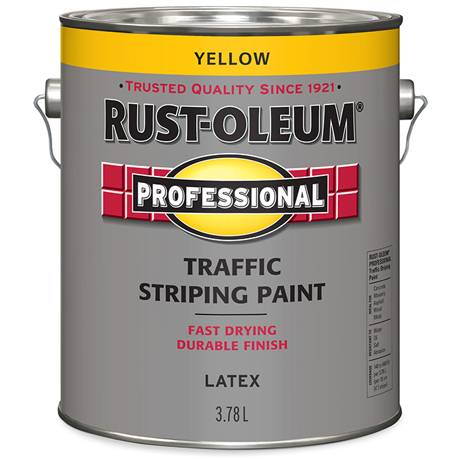 Rust-Oleum Traffic Striping Paint - Latex - 3.78 L - Yellow
