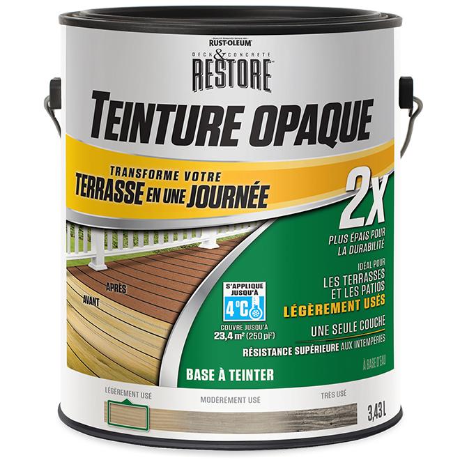 Base à teinter Rust-Oleum, resurfaceur de terrasse 2X, 3,43 l