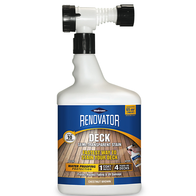 Renovator Deck Stain - 1.65 L - 700 sq.ft. - Chestnut Brown