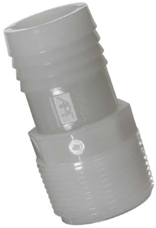 Straight Nylon Adapter - 1/2'' x 1/2''