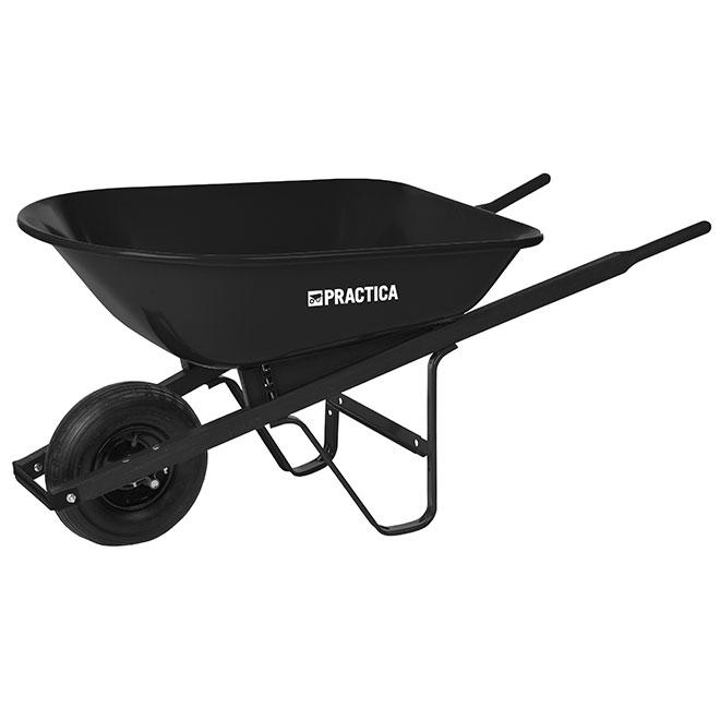 Wheelbarrow with Steel Tray - 5 cu.ft - Black