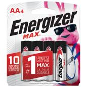 Alkaline Batteries AA Energizer Max - Pack of 4