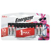 "Pack of 16 AA ""Max"" batteries"