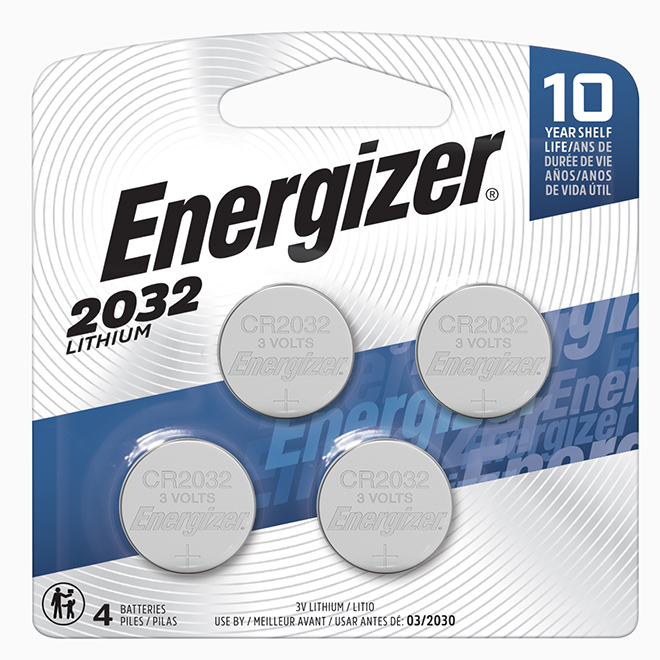 """""""2032"""" Lithium Coin Batteries - 4 Pack"""