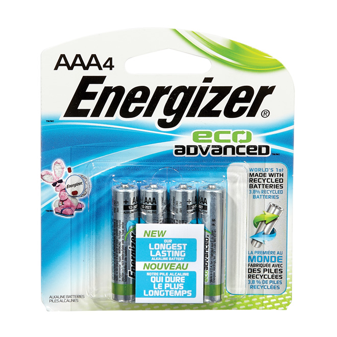 """Battery - Pack of 4 """"Eco Advanced"""" Alkaline AAA Batteries"""