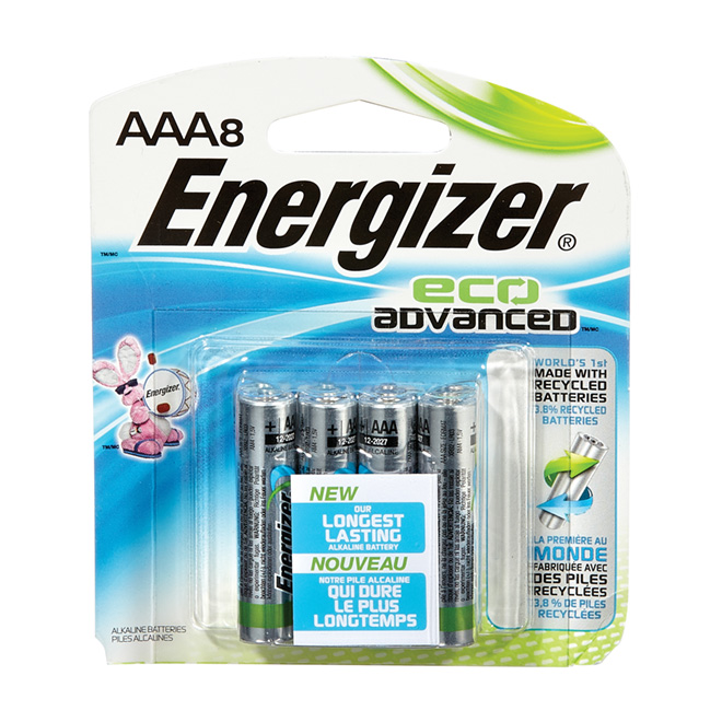 """Battery - Pack of 8 """"Eco Advanced"""" Alkaline AAA Batteries"""