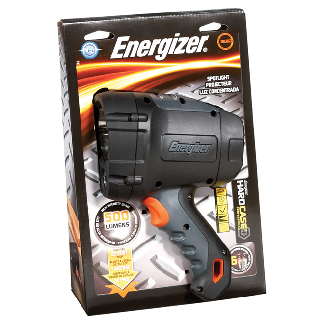 Portable Spotlight - Hardcase - Batteries Included - Black