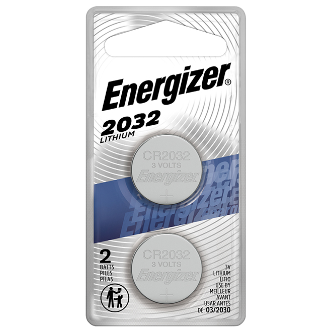 Miniature 2032 Lithium Battery - 3 V - 2/PK