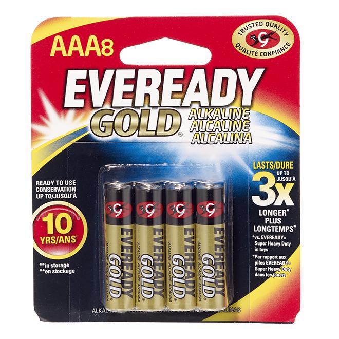 Alkaline AAA Batteries - Pack of 8