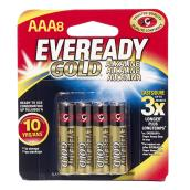 Alkaline AAA Batteries - Pack of 8