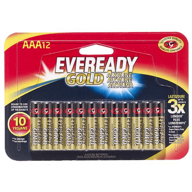 Alkaline AAA Batteries - Pack of 12