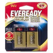 Alkaline 9 V Batteries - Pack of 2