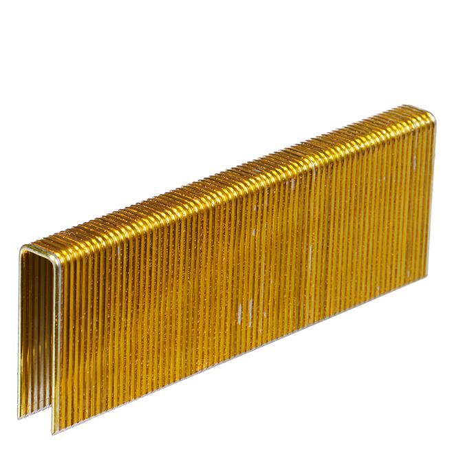 Galvanized Construction Staples - 1 1/2'' - 10 000/Box