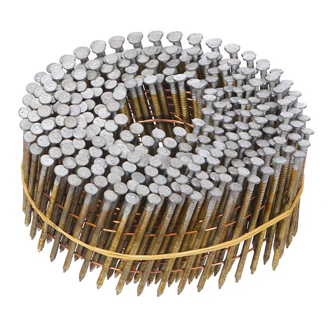"""Coiled Siding Nails 15° - Ring Shank - 2"""" - 1000/Box"""