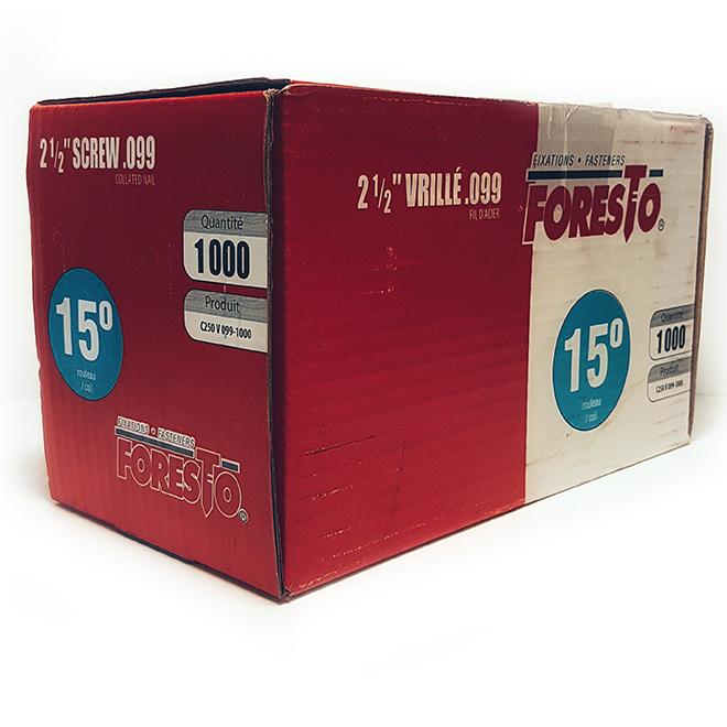 Framing nails - 15° - 2 1/2'' - 1000/Box