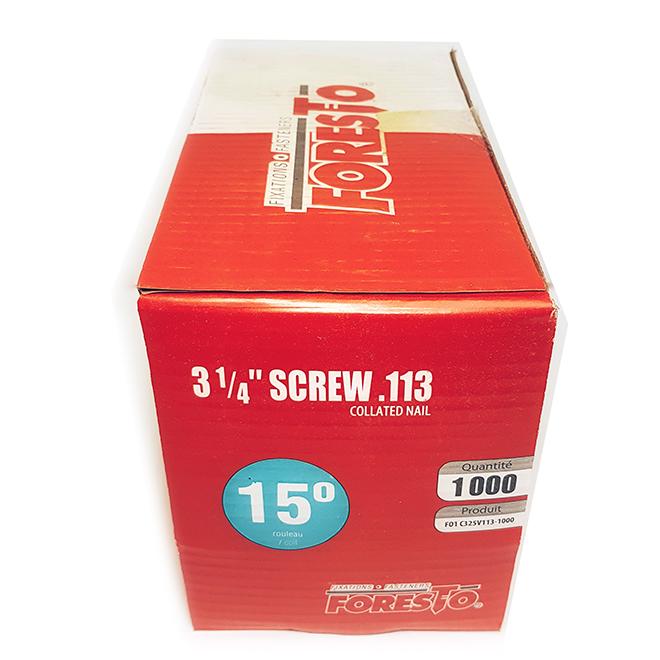 Framing nails - 15° - 3 1/4'' - 1000/Box