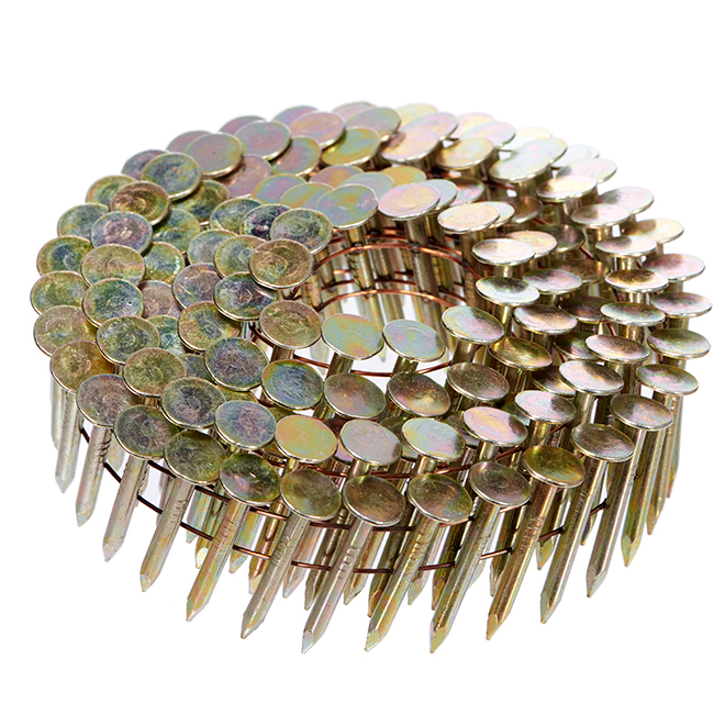 """Coiled Roofing Nails 15° - Ring Shank - 1 1/4"""" - 1000/Box"""