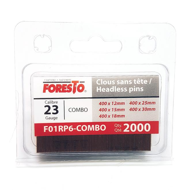 Headless Finishing Nails - 23-gauge - 5 Sizes - 2000/Pack