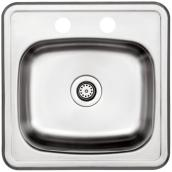 2-Hole Single Sink - 15 x 15 x 6