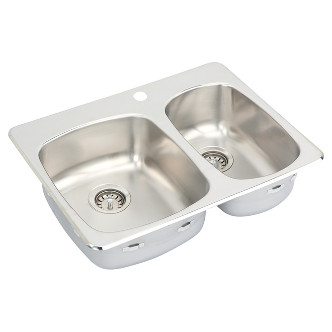 Wessan 1-Hole 1 1/2-in Sink - 27-in x 20.5-in x 7-in - Stainless Steel