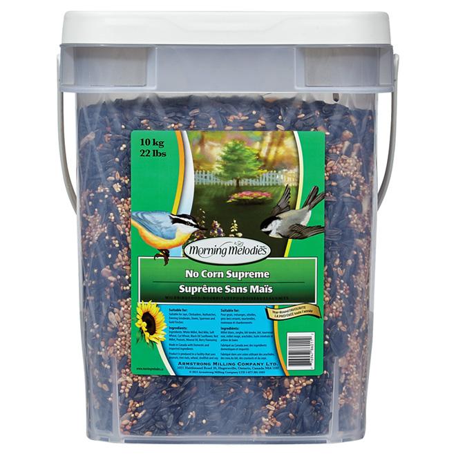 Mélange suprême de graines pour oiseaux, sans maïs, 10 kg